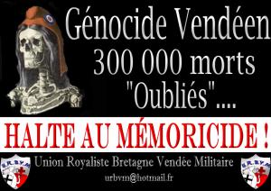 Génocide Vendéen et Mémoricide