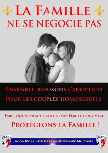 Affiche contre le Mariage Homosexuel