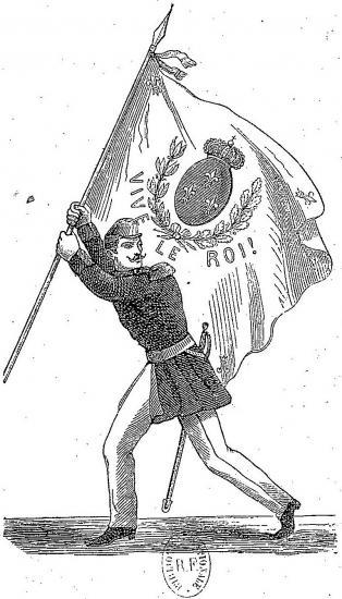 Soldat avec le drapeau royal