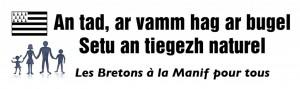 Les bretons pour la protection de la Famille lors de la Manif pour tous !