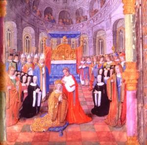 Anne est couronnée duchesse de Bretagne, le 10 février 1489 dans la cathédrale de Rennes par l'évêque du diocèse, Michel Guibé.