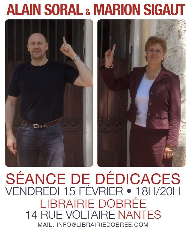 Dédicace à Nantes d'Alain Soral et de Marion Sigaut