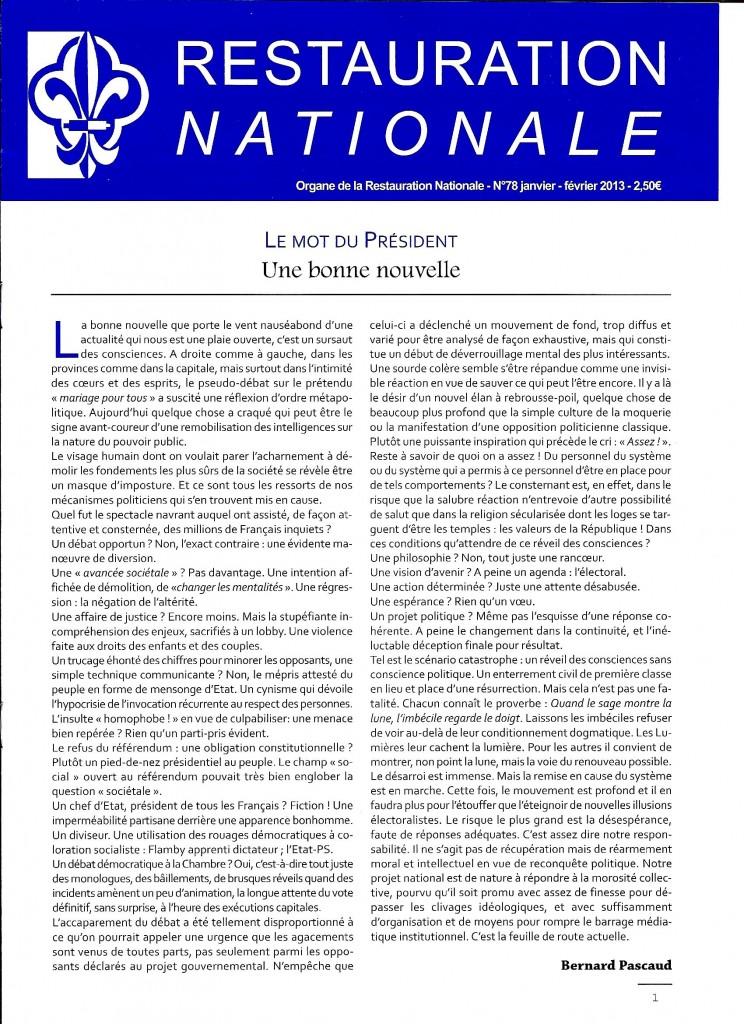 Restauration Nationale