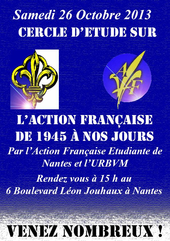 Cercle d'étude : l'Histoire de l'Action Française de 1945 à nos jours