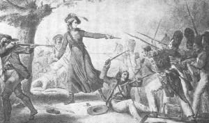 Madame Céleste Bulkeley, amazone vendéenne protégeant la retraite des Vendéens.