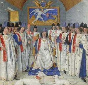 Louis XI préside le chapitre de Saint-Michel