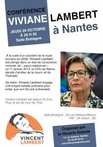 Affiche conférence Viviane Lambert