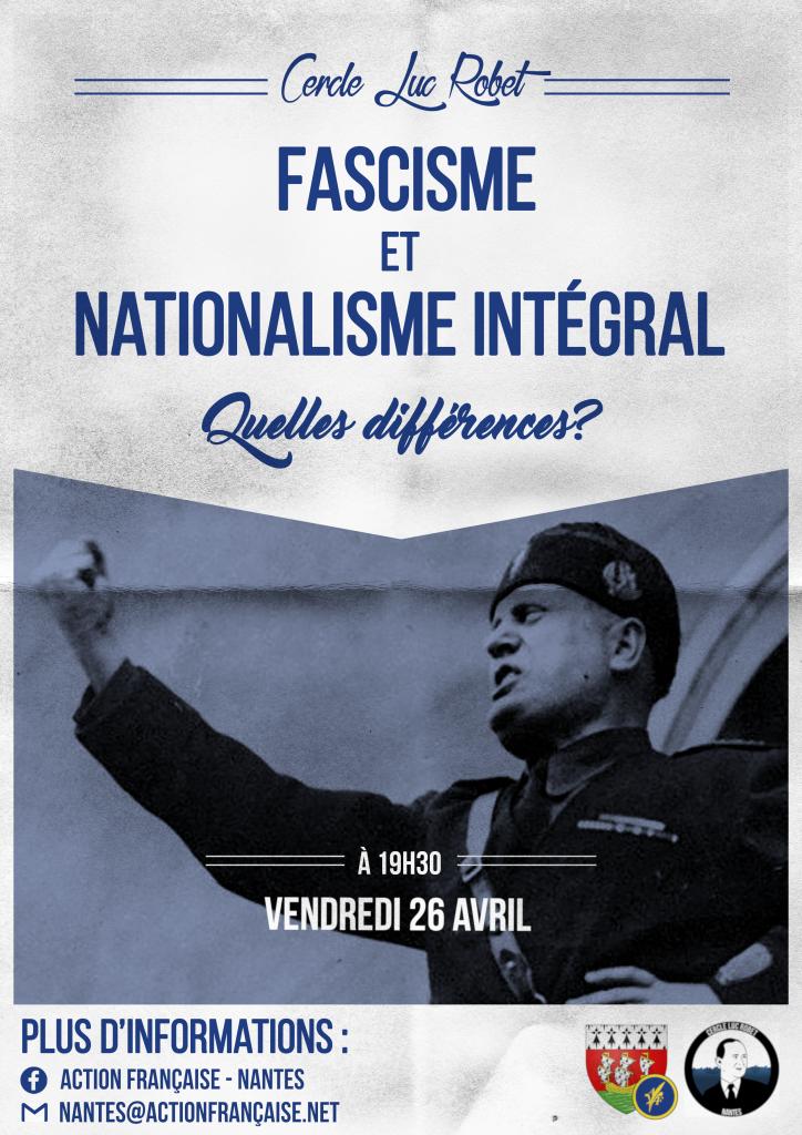 Support visuel du Cercle sur le Fascisme